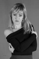 Ania (piotr_szymanek) Tags: ania aniaz woman young skinny face eyesoncamera studio portrait blonde blackandwhite nobra longhair 1k 20f 50f 5k 10k 100f 20k 30k