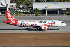 AirAsia Airbus A320-216 9M-AHT Thank you Sabah livery (EK056) Tags: airasia airbus a320216 9maht thank you sabah livery langkawi international airport