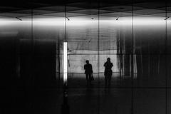 S0257149A Urban space (soyokazeojisan) Tags: japan osaka city street light people bw blackandwhite wall monochrome digital fujifilm xq2 2019