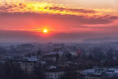 Like The Sun (Anna Kwa) Tags: nebotičnikskyscraper sunset sun city view capitalcity ljubljana slovenia annakwa nikon d750 2401200mmf40 my light shine always seeing heart soul throughmylens life journey darkest fate destiny feel travel world likethesun ryandan