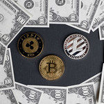 Cryptocurrencies with US dollar banknotes thumbnail