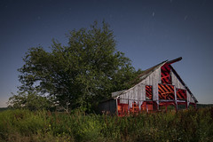 Illuminated Barn (Notley Hawkins) Tags: riverbottoms rural boonecountymissouri missouri notley notleyhawkins 10thavenue httpwwwnotleyhawkinscom missouriphotography notleyhawkinsphotography lightpainting nocturne 光绘 光繪 lichtmalerei pinturadeluz ライトペインティング प्रकाशपेंटिंग ציוראור اللوحةالضوء barn farm wood abandoned sky clouds longexposure summer may 2018 startrails warmlight coollight weeds tree