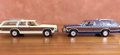 1985 vs 1979 Ford LTD Country Squire 1/64 Greenlight (Eunus El Ya) Tags: 1979 1985 ford ltd country squire 164 greenlight comparison fomoco lincoln mercury 70s 80s malaise era american muscle car station wagon land yacht diecast toy model 1980s cars luxury estate wagons