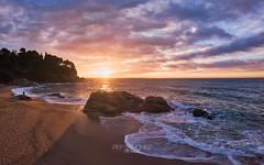 Cala Sa Boadella (PepinAir) Tags: airphoto calaboadella catalonia costabrava huntersdawns landscape mavic sunset lloretdemar catalunya españa es photoair photodrone
