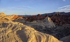 Sunset over Mars (PeterThoeny) Tags: valleyoffire overton nevada usa landscape outdoor sandstone sunset goldenhour sony a6000 selp1650 2xp raw photomatix hdr qualityhdr qualityhdrphotography valleyoffirestatepark sky mountain rock cliff fav50