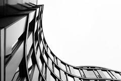 wave (PuertoNico) Tags: black white blackwhite architecture architektur bw glas modern abstract abstrakt deutschland hamburg hh welle wave haus house gebäude