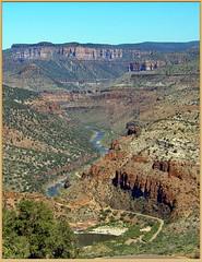 Canyon Trail (robinb44) Tags: arizona canyon creek river buttes bluffs trail roadway desert usa