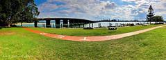 Wallis Lake Bridge, Forster, Mid North Coast, NSW (Black Diamond Images) Tags: wallislakebridge forster midnorthcoast nsw wallislake greatlakesnsw bridge australianbridges appleiphonex iphonexbackdualcamera iphonex iphone appleiphonexpanorama iphonexpanorama panorama