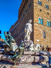 Fontana del Nettuno (saveriosalvadori) Tags: florence firenze tuscany toscana architettura arte art sculpture scultura piazzadellasignoria