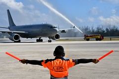The Royal Air Force Arrives in Grand Cayman (Cayman Islands Government Information Services) Tags: cayman royal visit charles prince wales camilla duchess cornwall owen roberts international airport united kingdom great britain