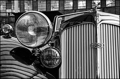 Horch 1938 (Logris) Tags: horch auto union oldtimer classic car bw sw minimal detail alt old