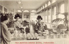 JP Tea Service at Grand Hotel Yokohama, earlier than 1923.