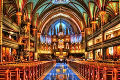 Basilique Notre-Dame (Vieux / Old Montreal) (BLEUnord) Tags: église church basilique notredame montréal vieuxmontréal old intérieur interior architecture