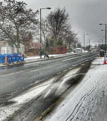 The morning after....... (LVNWtransFoto) Tags: road snow weather westerhope newcastle appleiphone7plus