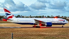 British Airways | G-VIIV | Boeing 777-236ER | BGI (Terris Scott Photography) Tags: aircraft airplane aviation plane spotting nikon d750 tamron 70200mm f28 di vc usd g2 travel barbados jet jetliner british airways 777 200 london grass sunset