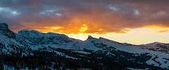 Sunset heaven (Nicola Pezzoli) Tags: italy italia val gardena dolomiti dolomites mountain winter alto adige snow neve nature natura bolzano sunset heaven alpe siusi sciliar clouds rays light