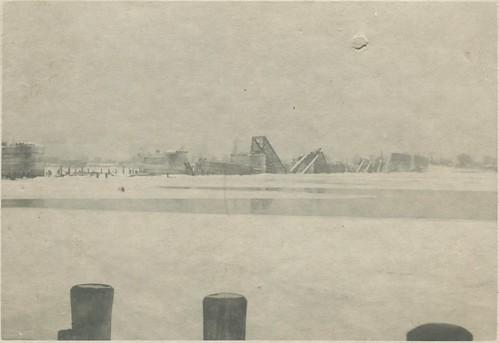 Кременчуг - Железнодорожный мост 1941-1942 001 PAPER2400 [eBay] [Волок А.М.] ©  Alexander Volok