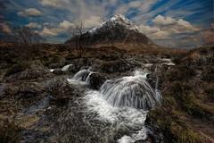 Buchaille Etive Waterfall (Fraser Ross) Tags: glencoe buchailleetive highlandsofscotland iconicscotland scottishscenery mustvisitscotland dramaticscotland highlandercountry beautiful heavenonearth