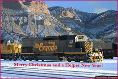 Merry Christmas and a Helper New Year (jamesbelmont) Tags: railway bookcliffs helper utah emd sd40t2 dirttrain riogrande drgw tunnelmotor christmas
