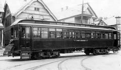 FJ&G 30 at Amsterdam NY (jsmatlak) Tags: fjg fonda johnstown gloversville railroad trolley streetcar interurban electric new york amsterdam carhouse