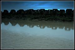 Land sea and air (gav7n76) Tags: wirral beach sea sand barrier defence newbrighton england water