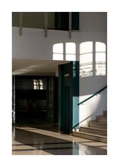 interieur (godelieve b) Tags: inside interior shadow poeticshadowsonwalls fenêtre window valencia reflection reflet pavement escaliers stairs escaleras vert green