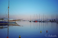 Sunrise Reflections, Alimos - Athens (Stathis Iordanidis) Tags: silence serenity tranquility travel mirroring reflections ships boats greece athens alimos marina sunrise