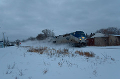 Snowy Day (jddeppe1) Tags: amtrak michigan railroad train