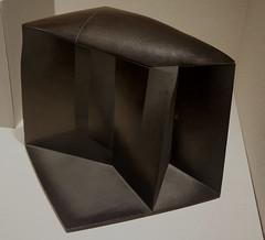 No Sound C by Hayashi Yasuo (1992, stoneware with black slip), Metropolitan Museum of Art, NYC (jmlwinder) Tags: metropolitanmuseumofart newyorkcity contemporaryjapaneseceramics nosoundc hayashiyasuo 1992 stonewarewithblackslip japan