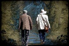 Walking together. (SØS: Thank you for all faves + visits) Tags: digitalartwork solveigøsterøschrøder art kunstnerisk manipulation artistic mennesker people inexplore 100views 500views 1000views