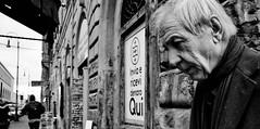 Stranger in a strange land. (Baz 120) Tags: candid candidstreet city contrast street streetphotography streetphoto streetcandid streetportrait strangers rome roma europe women monochrome monotone mono noiretblanc bw blackandwhite urban life portrait people italy italia grittystreetphotography faces decisivemoment