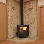 多機能型薪ストーブウッドボックス燃焼方式の写真
