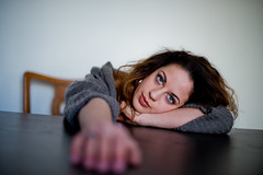 Elisa (Luca Ricagni) Tags: lucaricagni luca wwwlucaricagniit ricagni portrait portraiture ritratto ritrattistica models model girl girls eyes eye blue blueeyes mood 50mm 50 d800 nikon nikkor hand hair