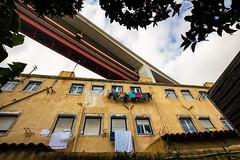 Lisbon, December 27, 2018 (Ulf Bodin) Tags: bridge lxfactory ponte25deabril lisbon lisboa canonef1635mmf4lisusm urbanlife bro sky outdoor lissabon canoneosr 25deabrilbridge portugal pt