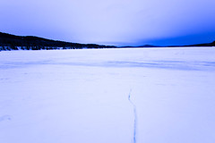 Cracked Lake (Northern Wolf Photography) Tags: 7mm clouds crack em5 frozen greenville ice lake landscape moosehead mountains olympus sunset wideangle maine unitedstatesofamerica us