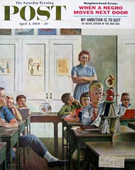 """Future Engineer"" (Retro Reveries) Tags: johnfalter falter 1950s illustration 1950sillustration magazinecover retroart vintage midcentury america 50s funny postcover history 1959 engineer classroom teacher students"