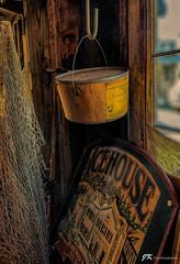 The Back Room (James Korringa) Tags: antique store window pail peanut sign net iphone xr