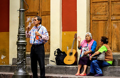Time for a Smoke (klauslang99) Tags: streetphotography klauslang people resting smoking man women guitar