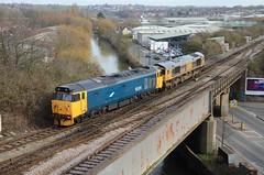 50049 + 66749 Feeder Bridge Jct (Westerleigh Westie) Tags: 50049 66749 feeder bridge jct