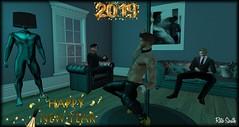 Happy New Year 2019 (Retogay (SL)) Tags: poledance signature gay club suit happy neuw year striptease champagne chopped off livingroom