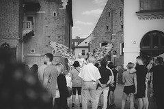 Angel (sylwiana) Tags: city blackandwhite blackandwhitephotography bnw bnwphoto bnwphotography bnwcreatives cracow people crowd sonya7 sigma50