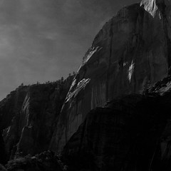 Zion - IMG_6050 (T. Brian Hager) Tags: zion zionnationalpark mountains rock cliff square digital blackwhite bw utah sky canoneos7d canon majestic
