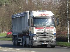 M Woodhouse YB67 WPJ at Welshpool (Joshhowells27) Tags: lorry truck mercedes mercedesbenz mercedesbenzactros actros mercedesactros lancaster yb67wpj tipper mwoohouse