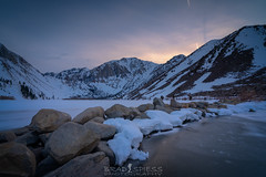 Frozen (ihikesandiego) Tags: convict lake mammoth lakes eastern sierras sunset frozen snow winter mountains