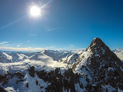 Midday flare (MalinaIoP) Tags: gopro hero austria tyrol mountains sun flare sky day snow winter glacier