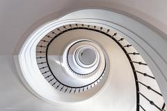 The eye (bjoernahrensfotografie) Tags: munich münchen architektur architecture lookup stairs staircase treppenhaus treppenauge auge eye minimal abstrakt spiral spirale