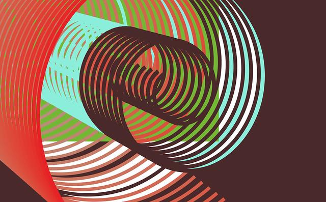 Обои линии, вращение, иллюзия, красочный картинки на рабочий стол, фото скачать бесплатно