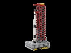 Saturn V Startrampe Miniatur (Knackepeter) Tags: lego saturn v space moon nasa crawler apollo 11 ldd bricklink rebrickable studio lxf miniature microscale