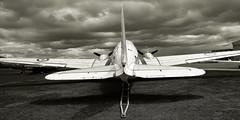 KK116 RAF C-47 B&W (toowoomba surfer) Tags: prop aircraft aviation aeroplane raf museum aviationmuseum airmuseum airbase coventryairport