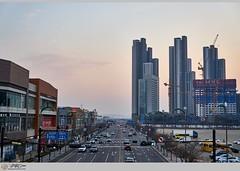 A city full of vitality. (Michael@0730) Tags: city ilsan korea garosugilstreet lakepark building apartment multipurposebuilding eveningsun
